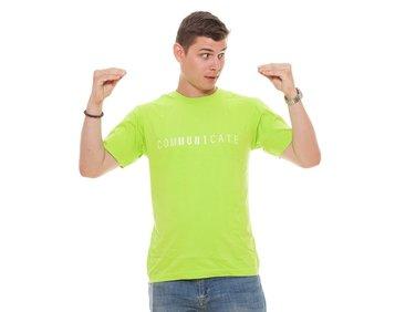 Tričko pánské limetkové ComMUNIcate