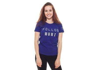 Tričko dámské modré FOLLOW