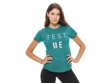 Women's T-shirt blue-green TEST ME