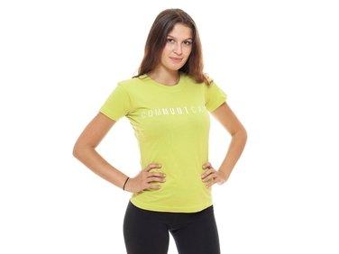 Women´s T-shirt comMUNIcate, lime