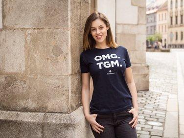 Tričko TGM, OMG, dámské modrá