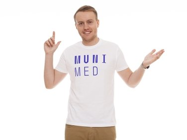 Men's  T-shirt, white  MUNI MED