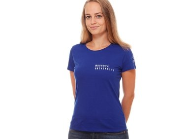 Women's  T-shirt,blue MU