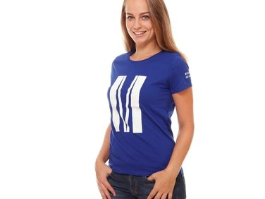Tričko dámské modré M