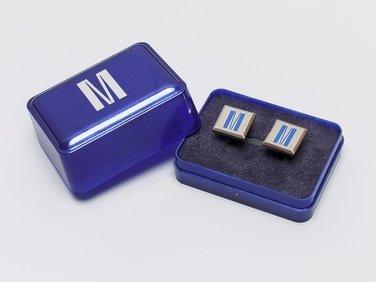 Cufflinks, blue M