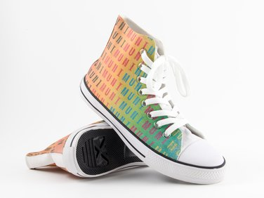 Colorful ankle sneakers