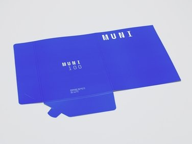 Sloha MUNI 100 modrá