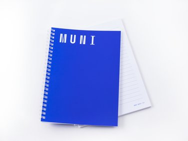 Blue notebook MUNI 100, A5