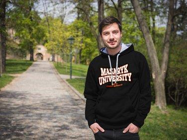 Mikina Masaryk University černá