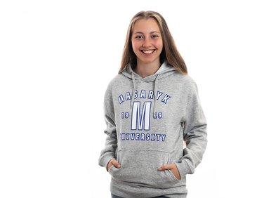 Masaryk University hoodie, grey