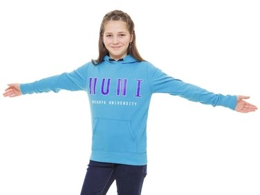 Mikina tyrkysová junior MUNI