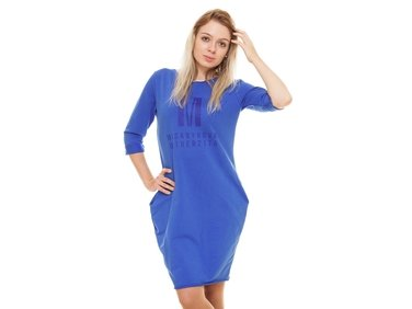 Hoodie dress color royal