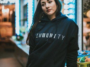 Hoodie IMMUNITY, navy