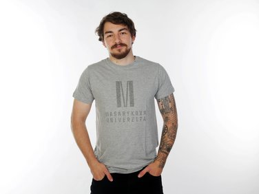 Men's  T-shirt Color in color, light grey