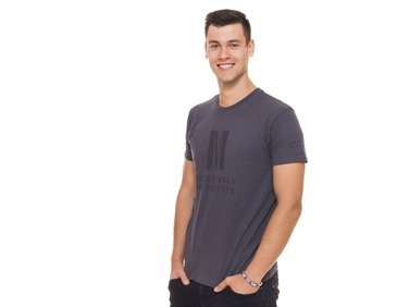 Men's  T-shirt Color in color, dark grey