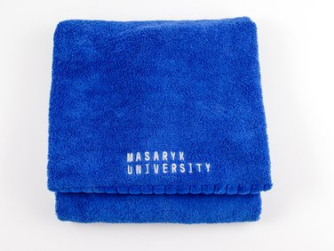 Towel with embroidery