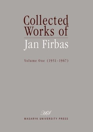 Collected Works of Jan Firbas I