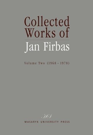 Collected Works of Jan Firbas II