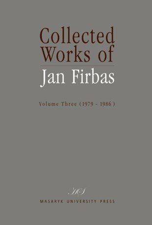 Collected Works of Jan Firbas III