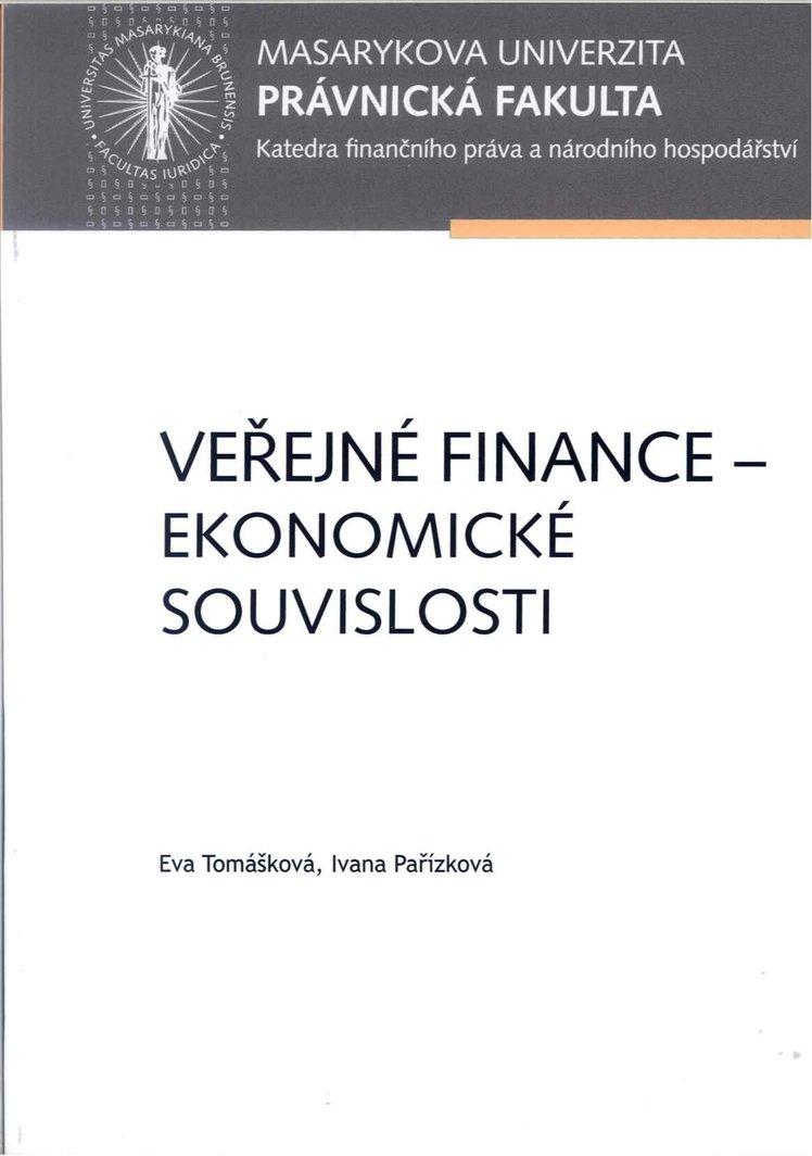 Veřejné finance – ekonomické souvislosti