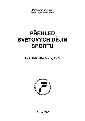 Přehled světových dějin sportu