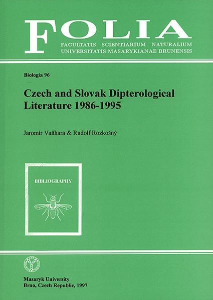 Czech and Slovak dipterological literature 1986–1995