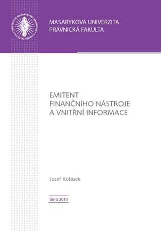 Emitent finančního nástroje a vnitřní informace