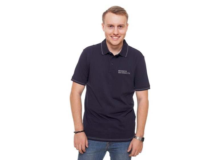 Men's polo shirt  color navy