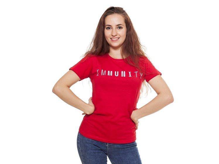 Tričko dámské  červené imMUNIty