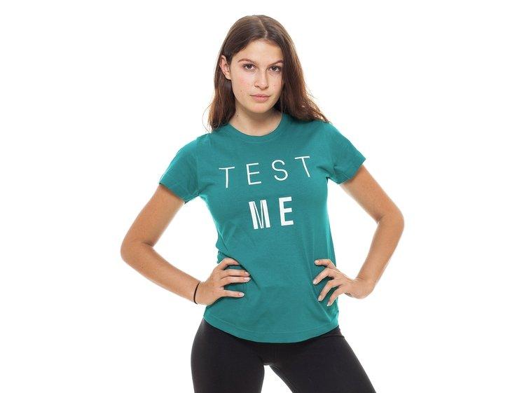 Tričko dámské  zelenomodré TEST ME