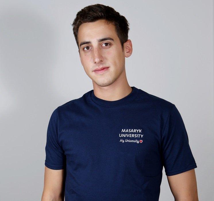 Tričko Absolvent - pánské modrá
