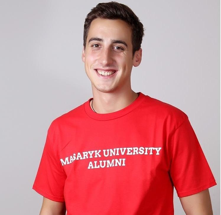 Tričko Absolvent - pánské červená