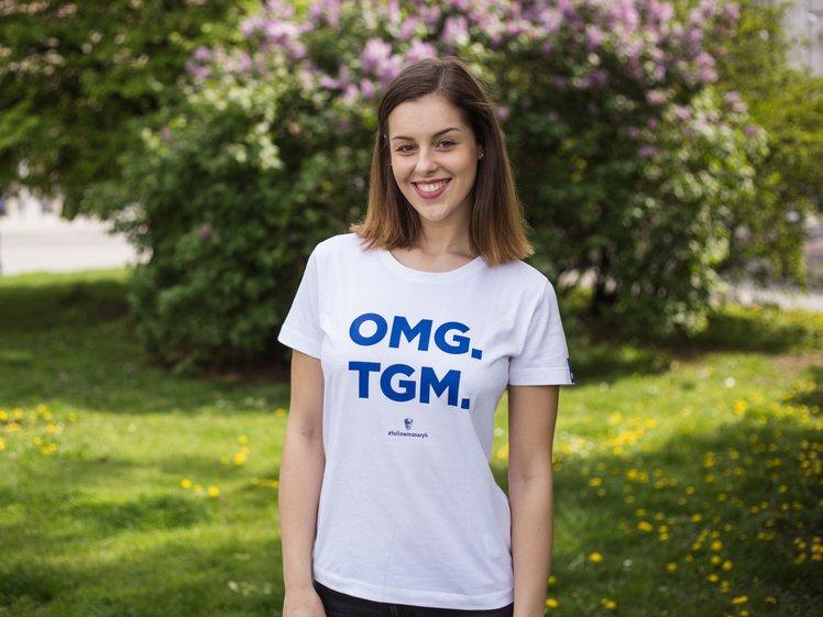 Tričko TGM, OMG, dámské bílé