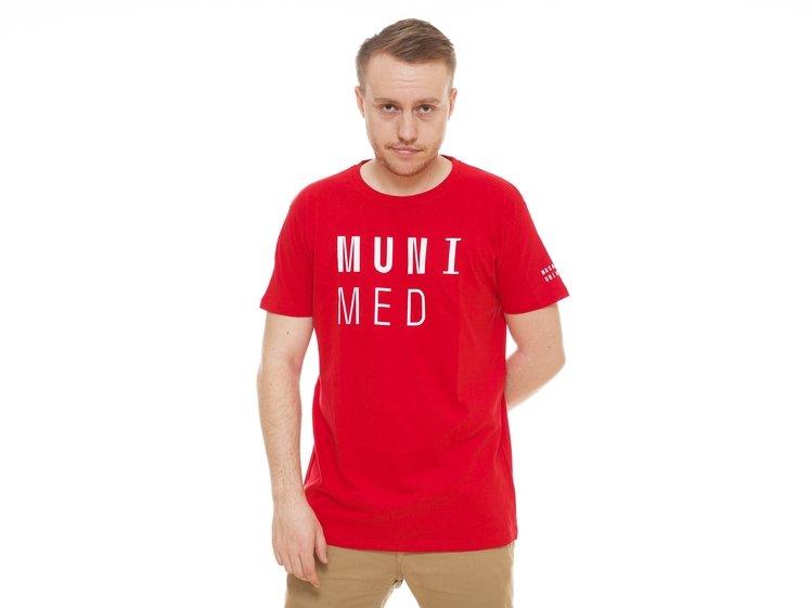 Tričko pánské MUNI MED červené