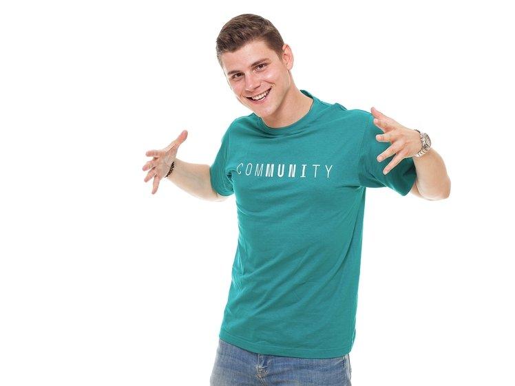 Tričko pánské tyrkysové comMUNIty