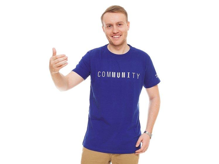 Men's  T-shirt comMUNIty, blue