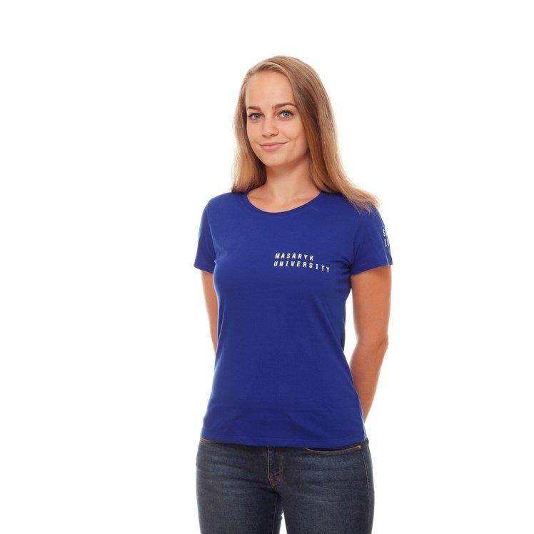 Tričko dámské modré MU