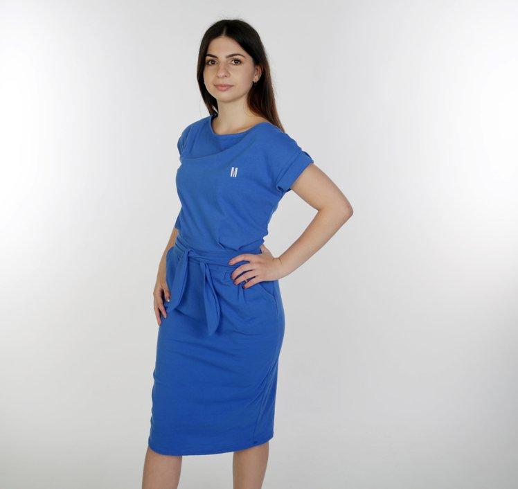 summer dress with belt royal
