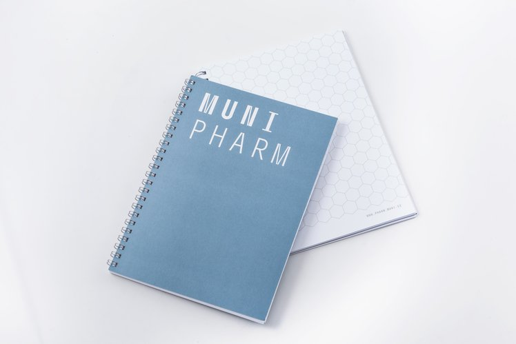Notebook PHARM, A5 with hexagon