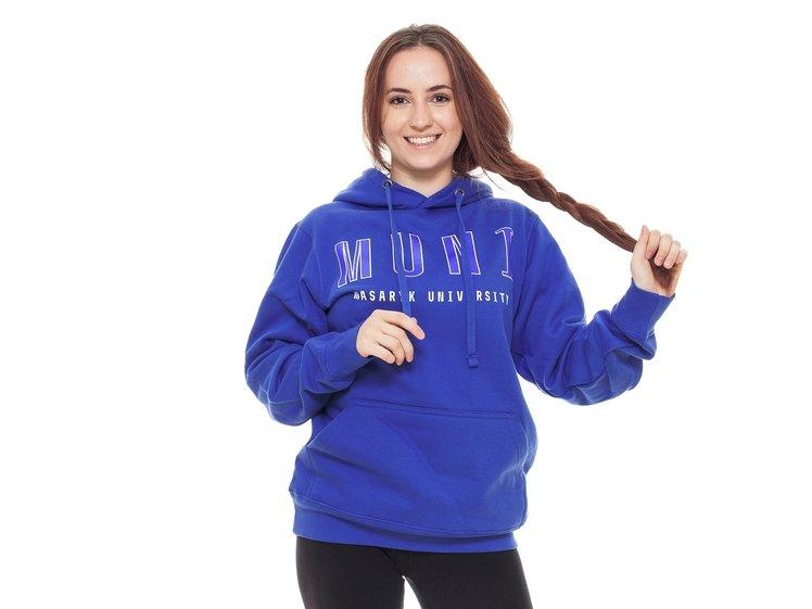 Masaryk University hoodie, blue