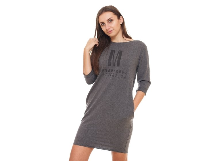 Hoodie dress color dark gray