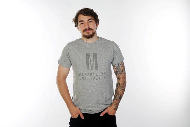 Men's  T-shirt Color in color, light grey