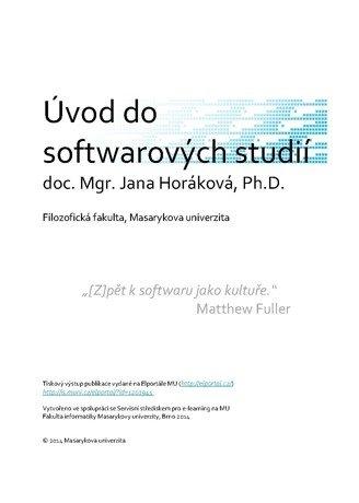 Úvod do softwarových studií