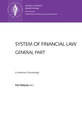 System of Financial Law – General Part