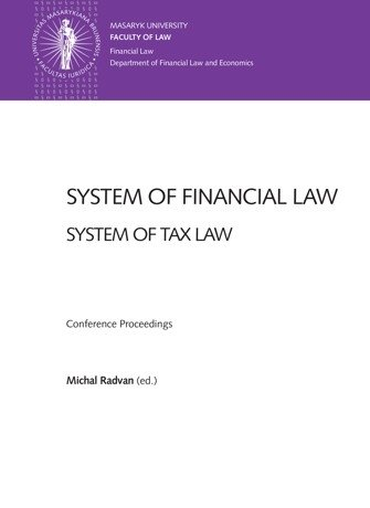 System of Financial Law – System of Tax Law