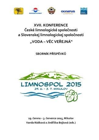 """XVII. konference České limnologické společnosti a Slovenskej limnologickej spoločnosti """"Voda – věc veřejná"""""""