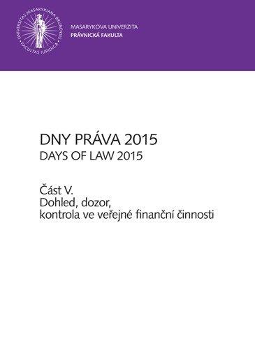 Dny práva 2015 – část V.