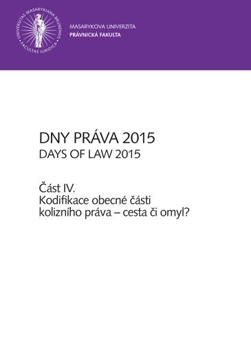 Dny práva 2015 – část IV.