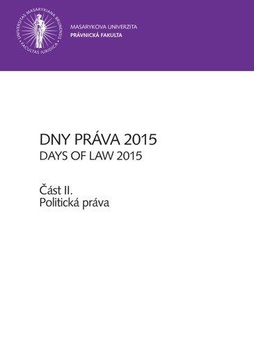 Dny práva 2015 – část II.