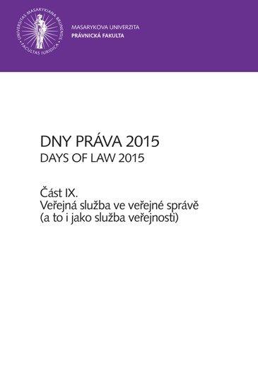 Dny práva 2015 – část IX.
